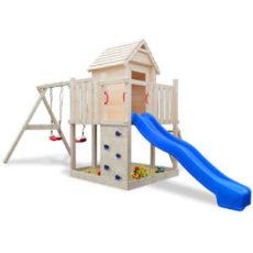 Spielhaus mit Rutsche