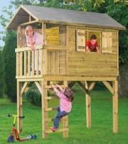 Ein Baumhaus macht die Kinder glücklich